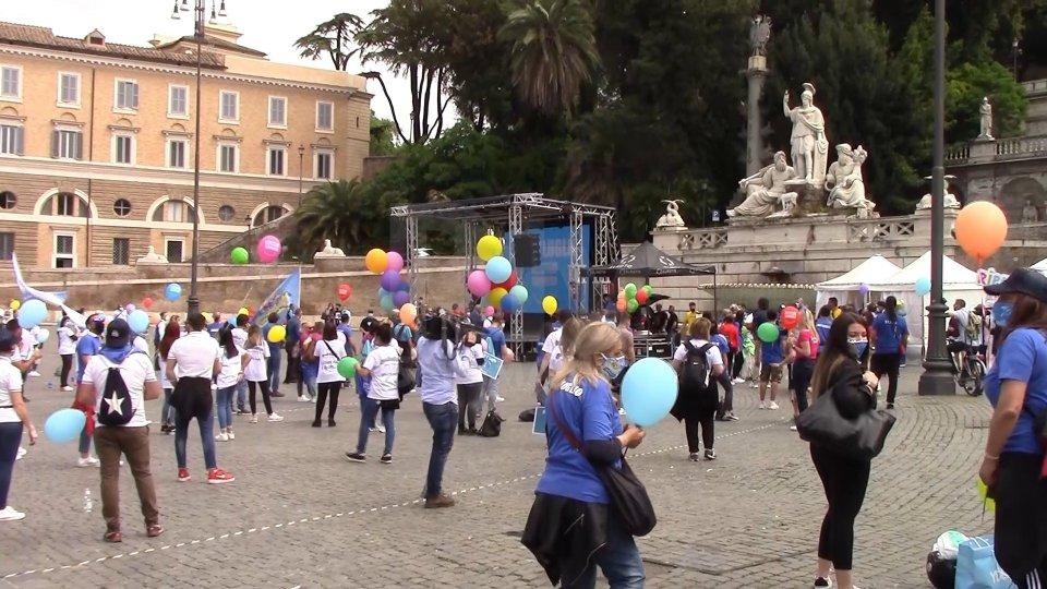 La protesta a Roma