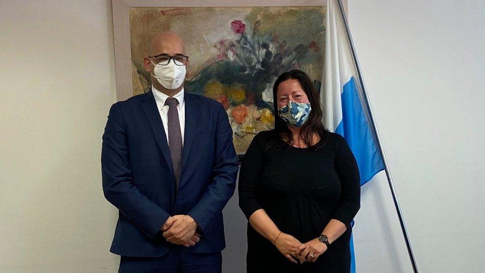 Il Segretario Roberto Ciavatta e la presidente del Fondiss Maria Antonietta Pari
