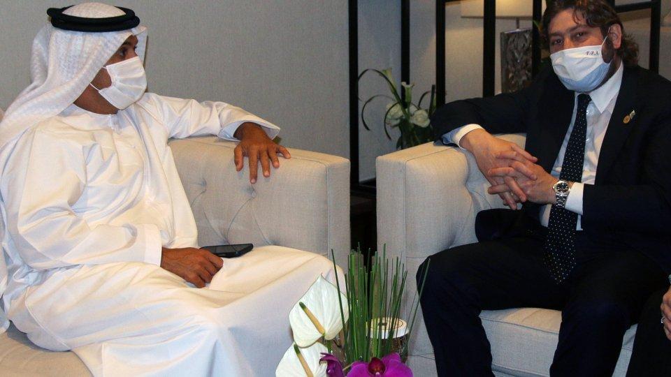Pedini Amati a Dubai presenta San Marino alla stampa emiratina