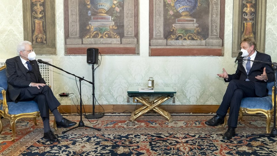 Il Presidente Mattarella ha ricevuto il Presidente della Fondazione Meeting per l'Amicizia fra i popoli, Scholz