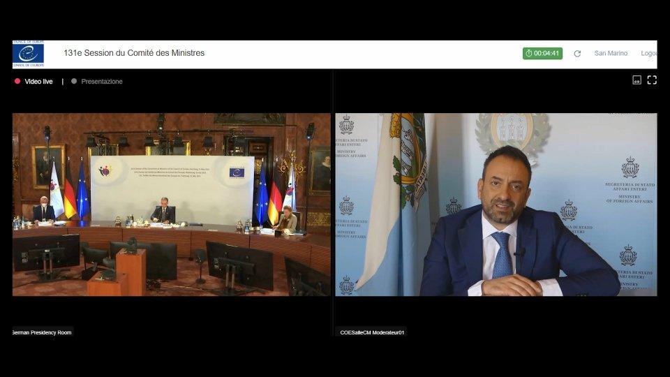 Comitato dei Ministri del Consiglio d'Europa: diritti umani al centro dell'intervento del Segretario agli Esteri