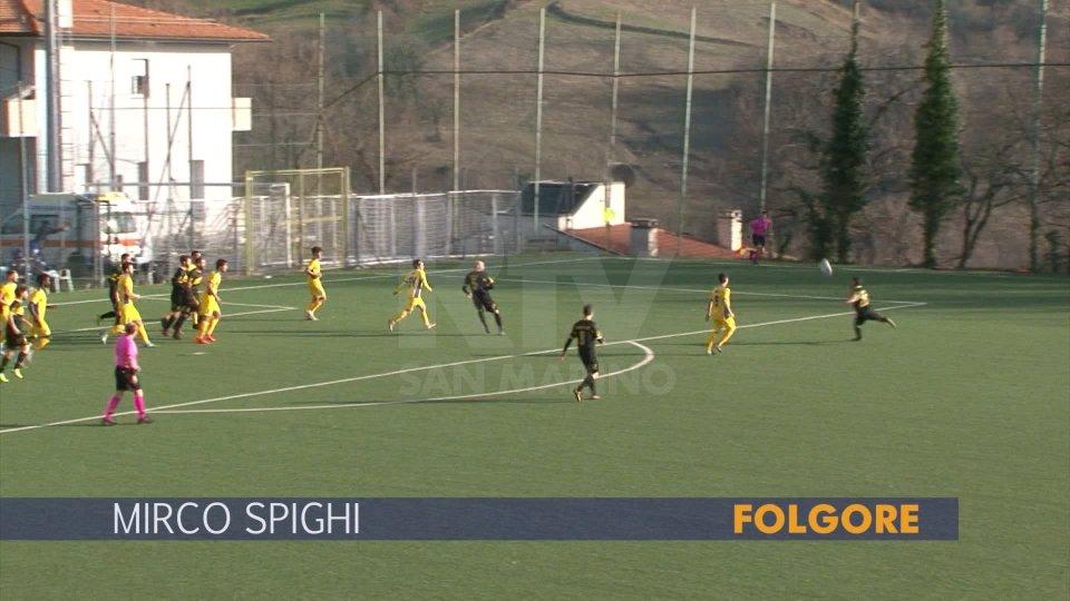 Il gol di Mirco Spighi