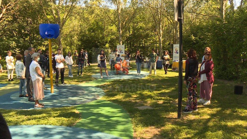 Faetano: inaugurata nuova area giochi al Parco inclusivo BattiCinque