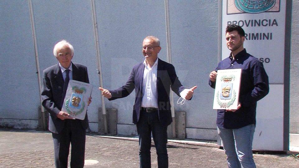 Nel servizio le interviste a Riziero Santi (presidente Provincia di Rimini), Pietro Rossi (Sindaco di Montecopiolo) e Bruno Ciucci (Sindaco di Sassofeltrio)