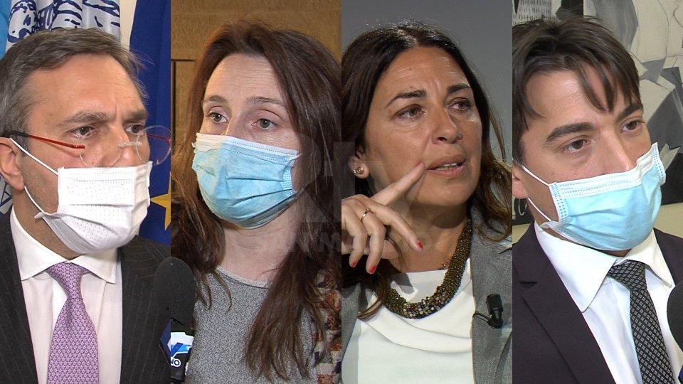 Francesco Mussoni, Adele Tonnini, Denise Bronzetti e Matteo Ciacci (foto archivio)
