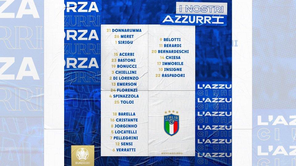 Euro 2020: i 26 Azzurri convocati dal Ct Mancini