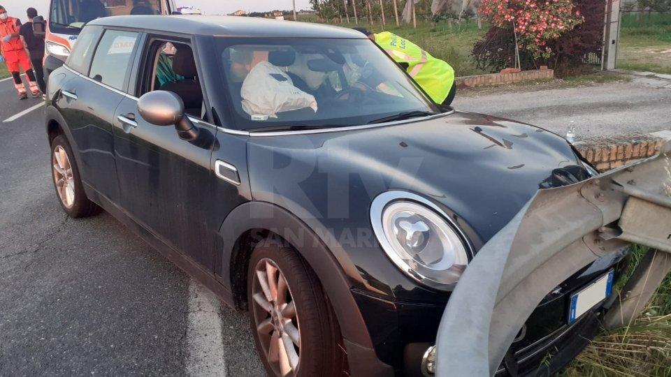 La Mini Cooper coinvolta nell'incidente