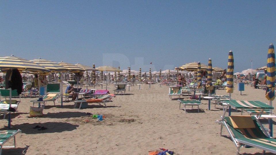 Una spiaggia di Rimini