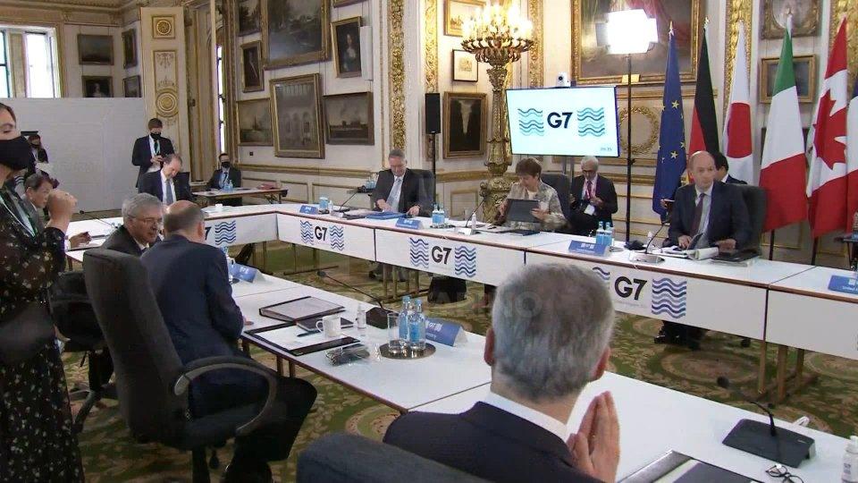 Il ministro delle Finanze del Regno Unito, Rishi Sunak (@Rainews)Il G7