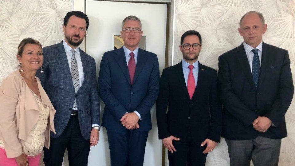 La Rappresentanza Commerciale della Federazione Russa in Italia in visita sul Titano