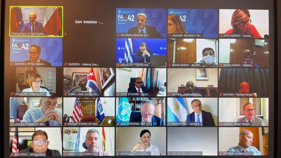 San Marino alla Conferenza dell'Onu per l'Alimentazione e l'Agricoltura