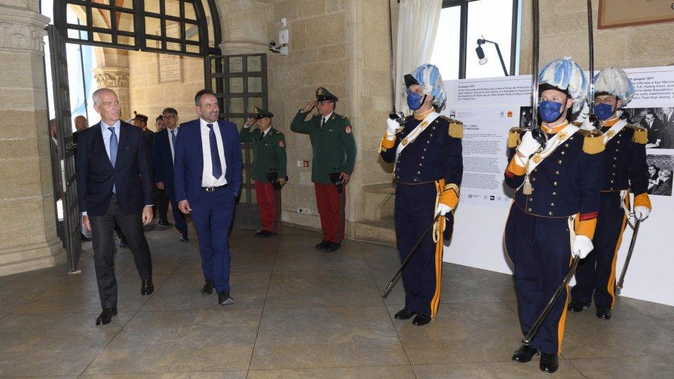 Visita a San Marino di Franco Gabrielli, Sottosegretario alla Presidenza del Consiglio della Repubblica Italiana con delega alla sicurezza
