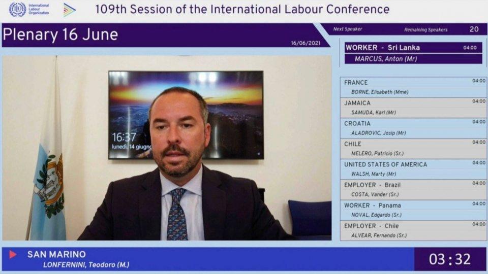 """Segretario Lonfernini interviene alla Conferenza ILO: """"Puntare sulla persona per cambiare il mondo del lavoro"""""""