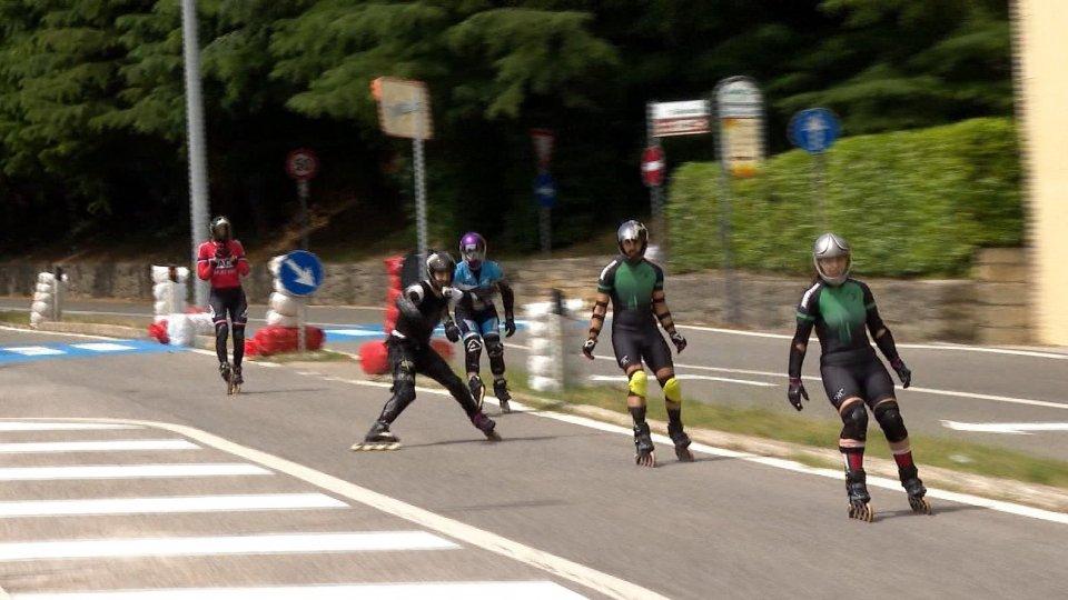 A San Marino l'Italiano di downhill e skateboard downhill