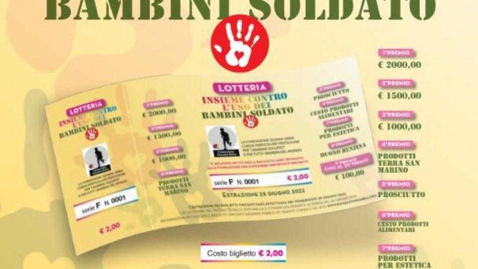 """Ultimi giorni di vendita biglietti della lotteria """"insieme contro l'uso dei bambini soldato"""""""