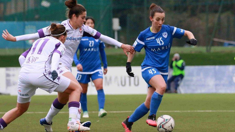 Raffaella Barbieri (foto: FSGC) in azione contro la Fiorentina