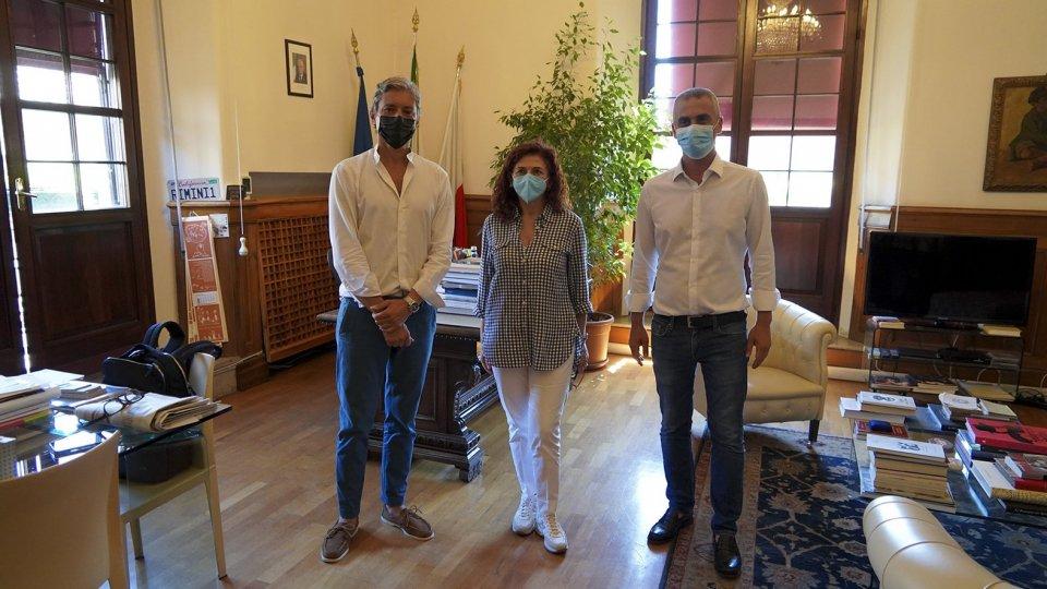 Ricevuta in residenza comunale la dott.ssa Enrica Bonini, Vicario della Questura di Rimini,  Primo Dirigente della Polizia di Stato