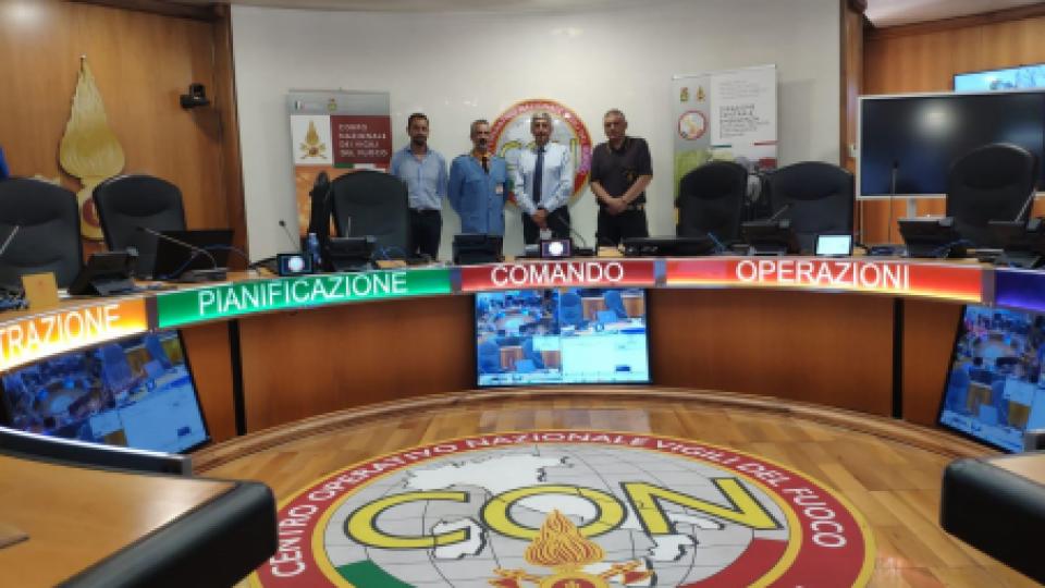 Il Comandante del Corpo della Polizia Civile Werter Selva in visita a Roma, presso il Dipartimento dei Vigili del  Fuoco del Soccorso Pubblico e della Difesa Civile