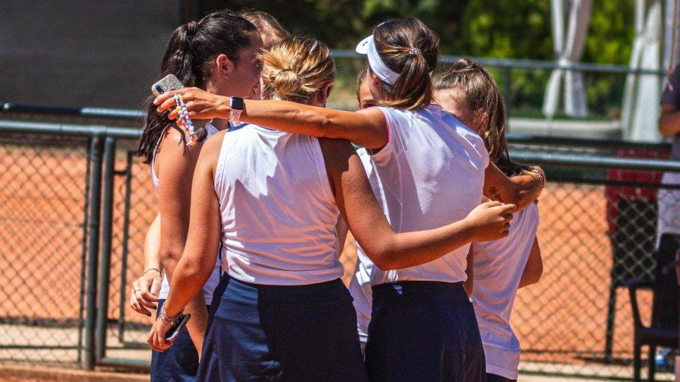 Tennis, le ragazze della Scuola Federale San Marino promosse in D2