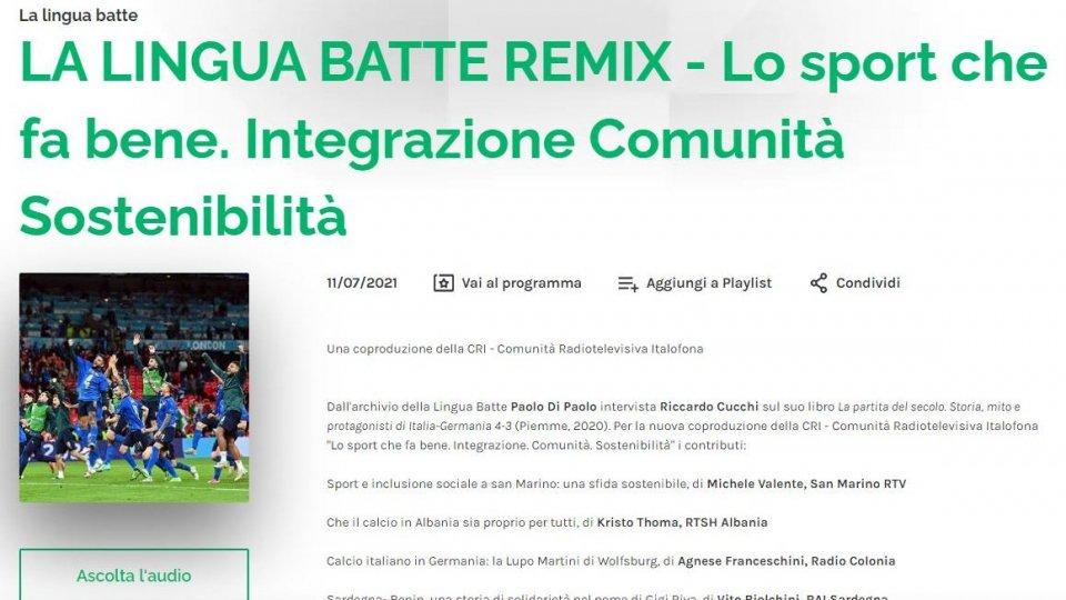 La lingua batte; il contributo di San Marino Rtv su 'Sport e inclusione sociale'