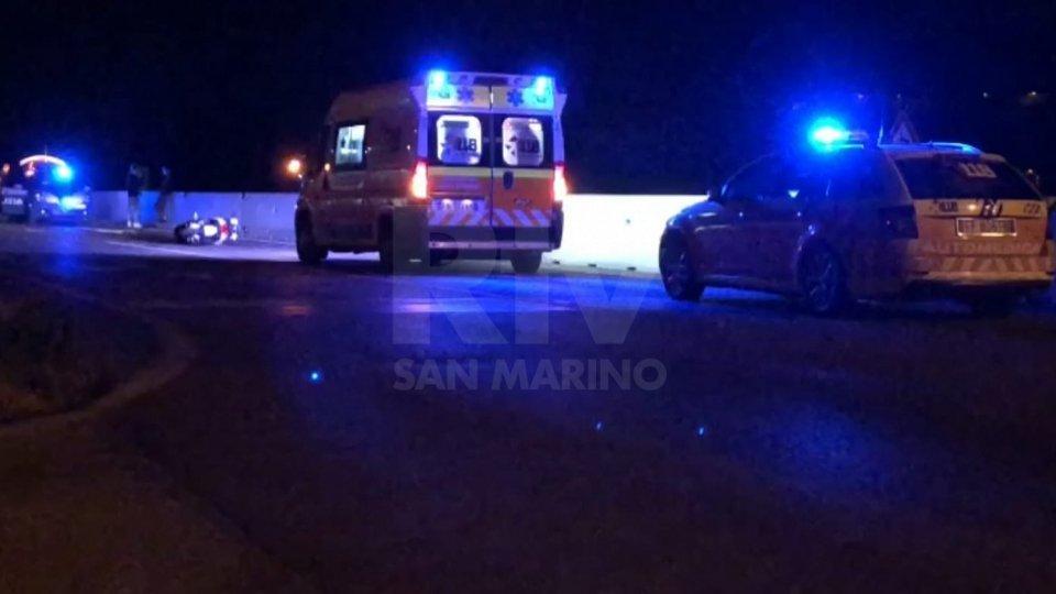 Rimini, incidente nella notte sulla superstrada per San Marino: due i feriti