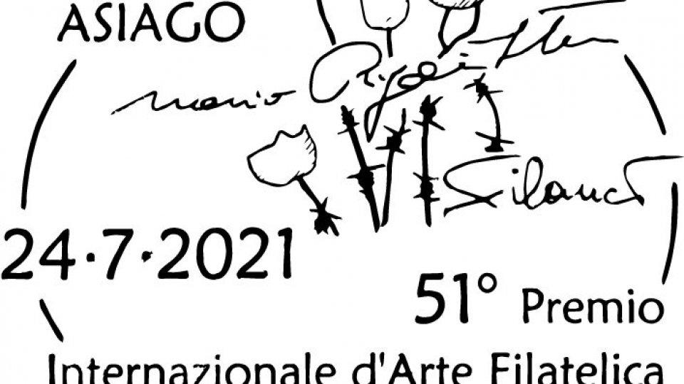 Annullo speciale per manifestazione 51° Premio Internazionale d'Arte Filatelica, Asiago
