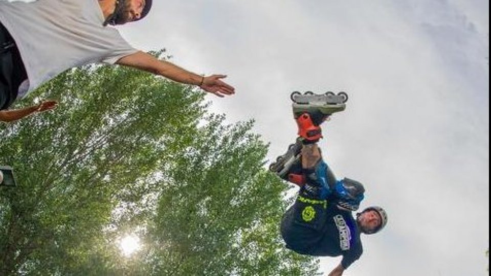 Roller Free style: premiato l'atleta sammarinese Davide Giannoni