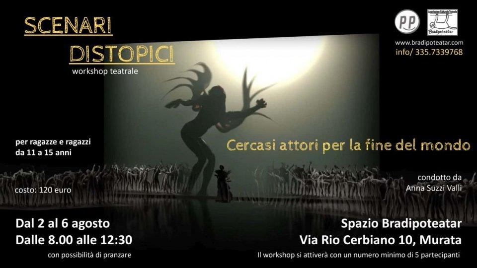 Scenari distopici – workshop teatrale per ragazze e ragazzi da 11 a 15 anni