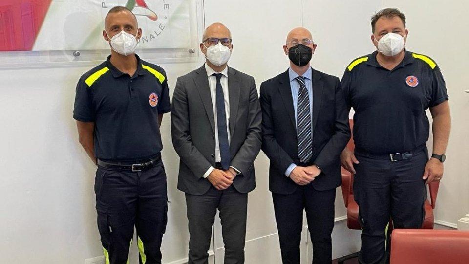 Il Capo della Protezione Civile di San Marino incontra il Capo del Dipartimento di Protezione Civile italiano