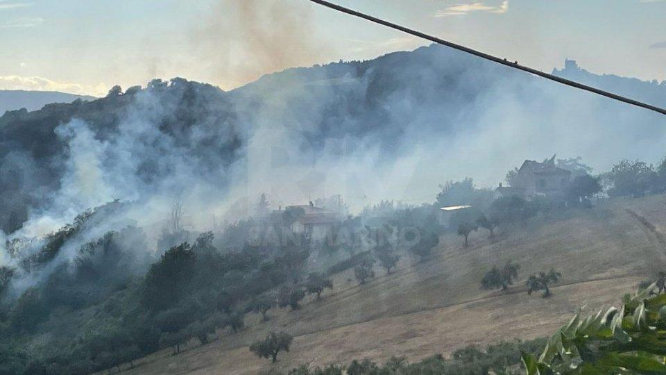 Incendio a Saludecio, preoccupazione tra la cittadinanza