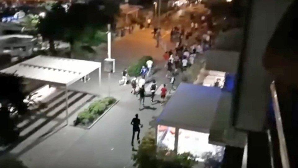 Un frame del video girato dai turisti
