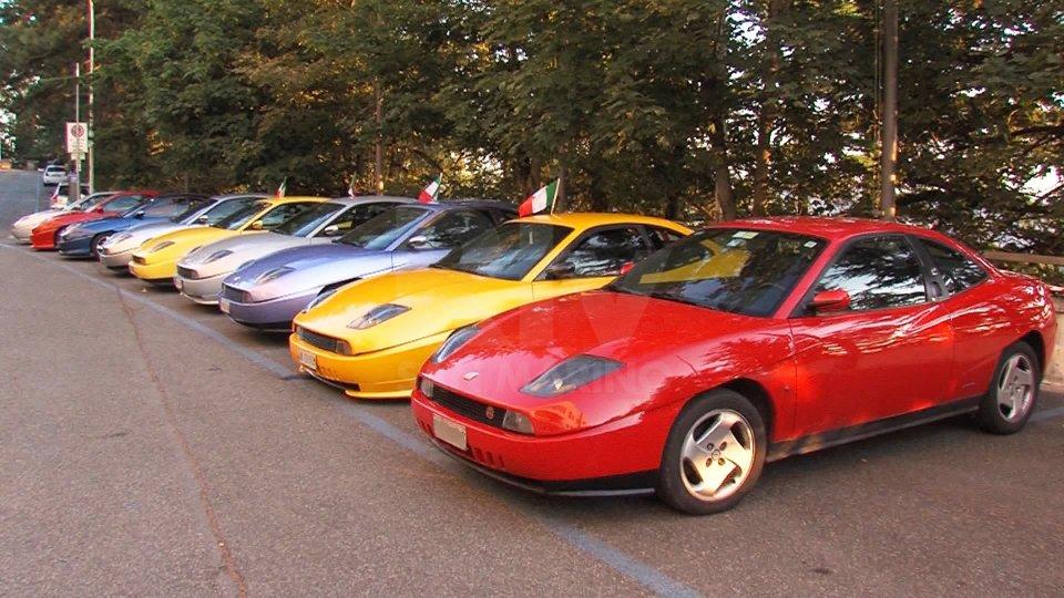 Le Fiat Coupè al momento della partenza