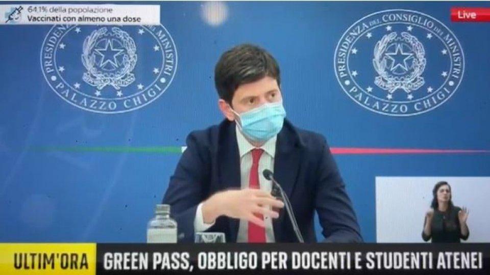 """Decreto 'Green Pass', Speranza: """"Esenzione per San Marino fino al 15 ottobre. Soluzione transitoria per un interlocutore importante"""""""