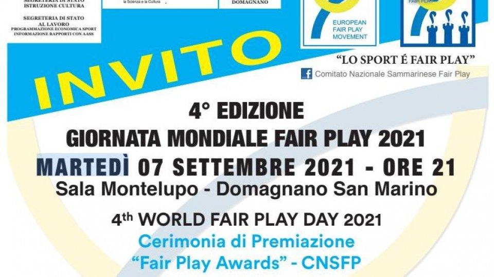 Perilli, Berti, Amine Mularoni premiati alla Giornata Mondiale Fair Play