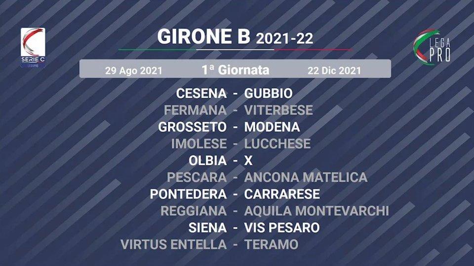 Serie C: la prima giornata Cesena-Gubbio e Imolese-Lucchese