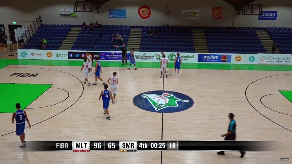 Basket: Malta batte San Marino 96-65