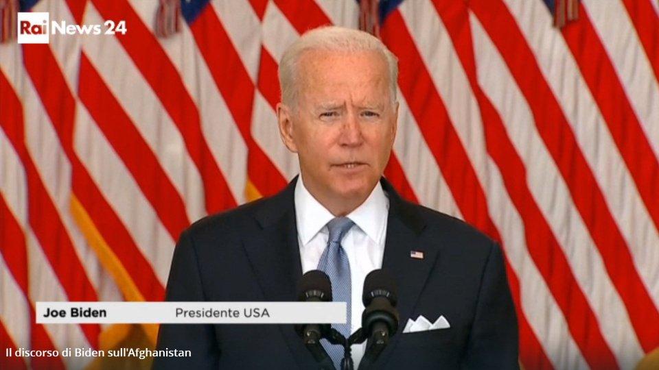 """Il discorso di Biden: """"È sbagliato ordinare di combattere quando le truppe dell'Afghanistan non lo fanno"""""""