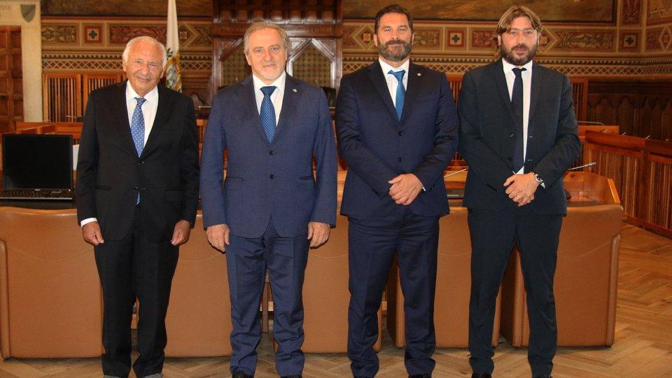 Il Maestro Mogol in visita a San Marino