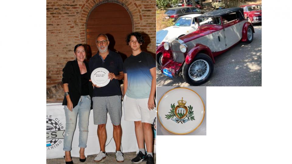 Premiata l'auto più rappresentativa del giro dei castelli: Premio Porta del Paese