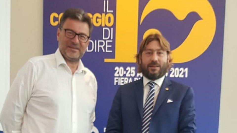 Ultimo giorno di lavori per la manifestazione di Cl: il Segretario di Stato Pedini Amati rivede il ministro Giorgetti