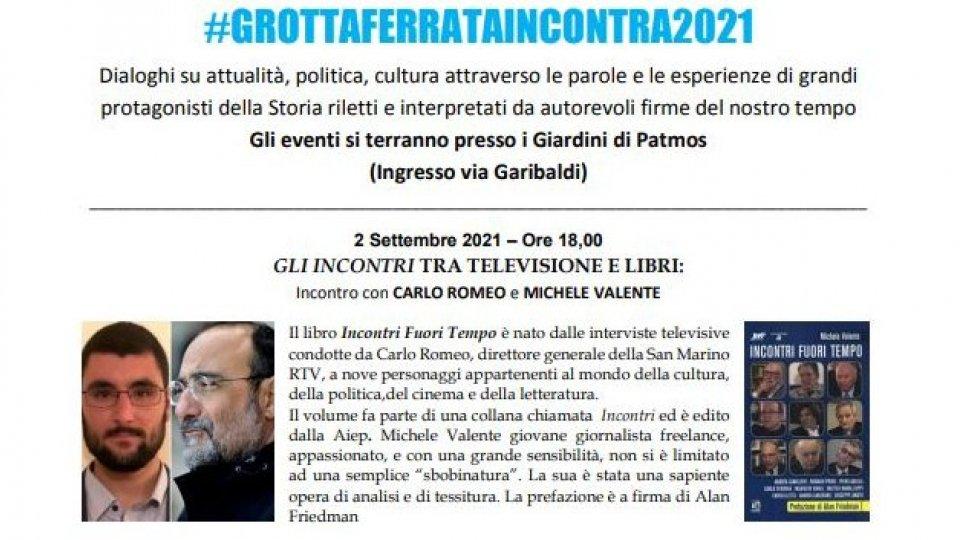 """""""Incontri Fuori Tempo"""", il libro sulle interviste in tv del Dg Carlo Romeo nel settembre Grottaferrese"""