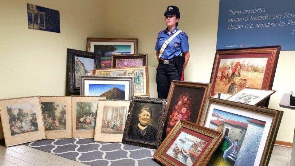 San Giovanni in Marignano, quadri rubati per 30mila euro: fermato il ricettatore