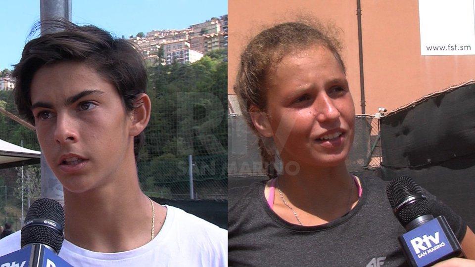 Lorenzo Carboni e Kiara Zabkova