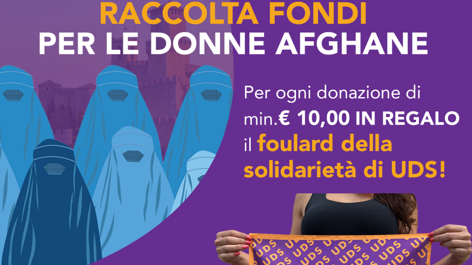 Uds avvia raccolta fondi per le donne afghane con il foulard della solidarietà