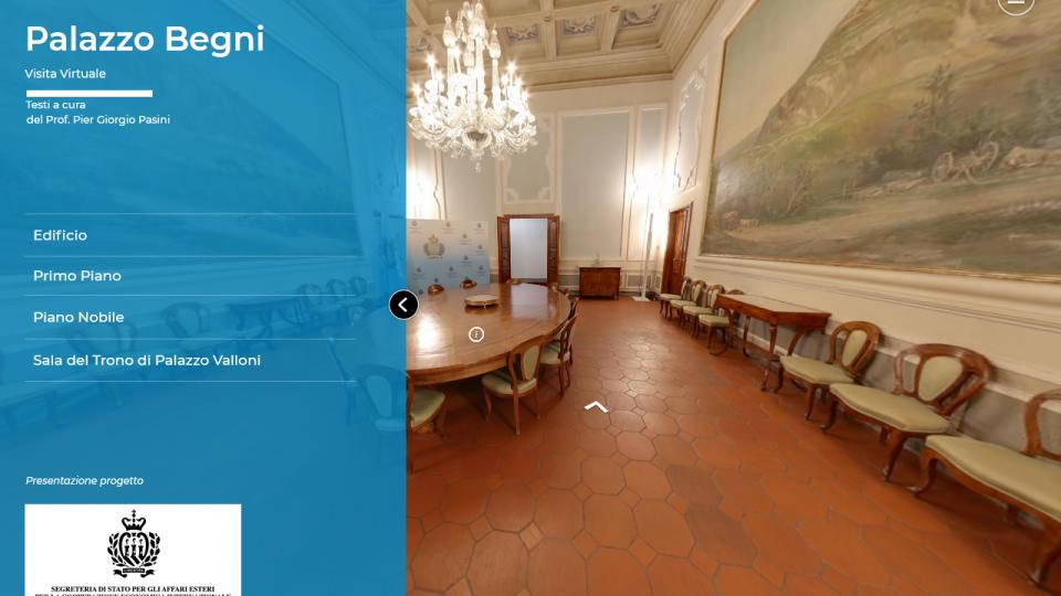 Presentata la galleria virtuale di Palazzo Begni e il nuovo sito della Segreteria