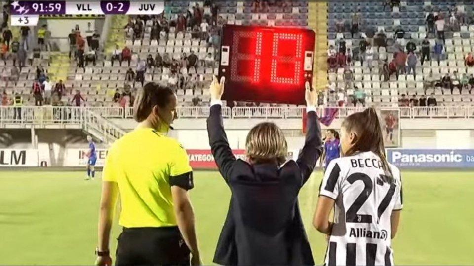Esordio in Champions per Chiara Beccari