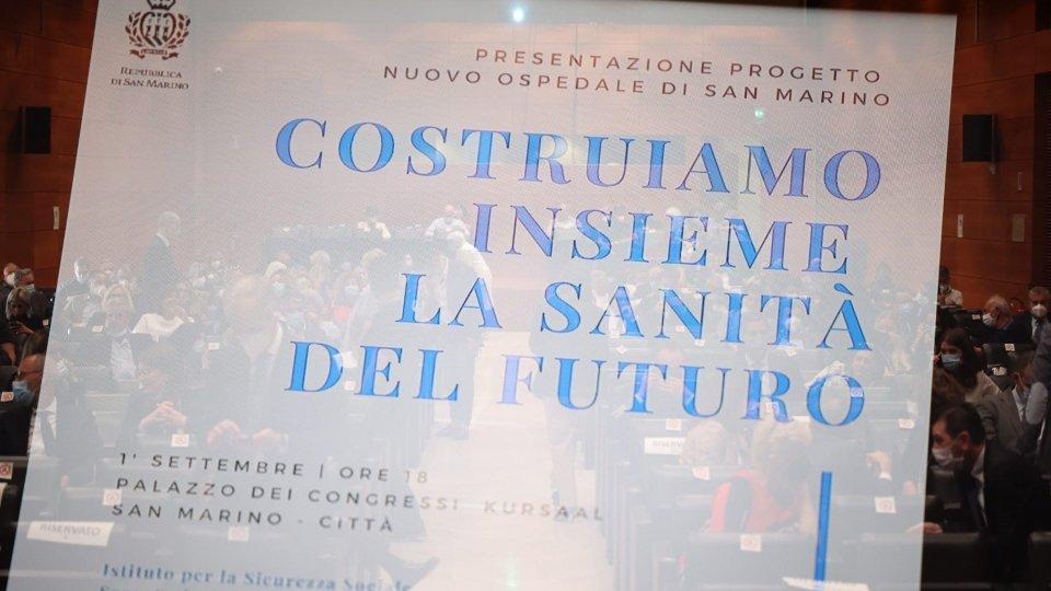 """Grande partecipazione per la presentazione del progetto preliminare del Nuovo Ospedale di Stato della Repubblica di San Marino: """"Sarà la casa di tutti"""""""