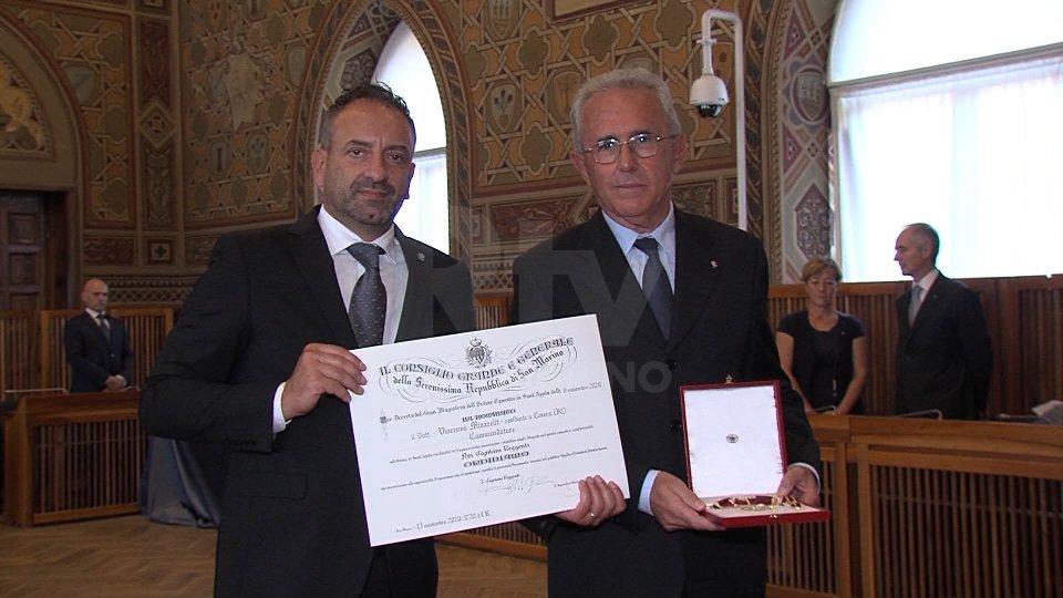 """Minarelli, già capo dipartimento di Polizia, è """"commendatore di Sant'Agata"""""""