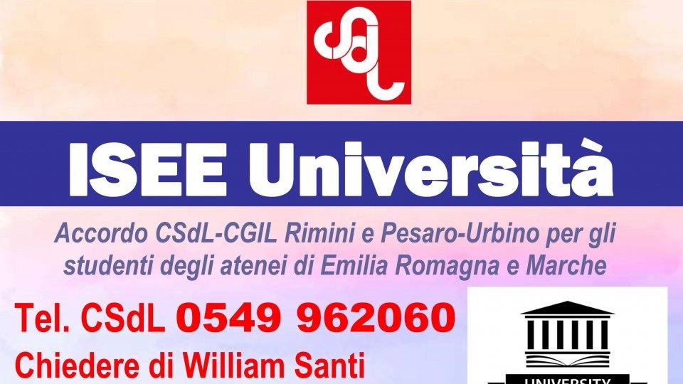 ISEE per le Università di Emilia Romagna e Marche, servizio gratuito erogato grazie ad accordo CSdL-CGIL