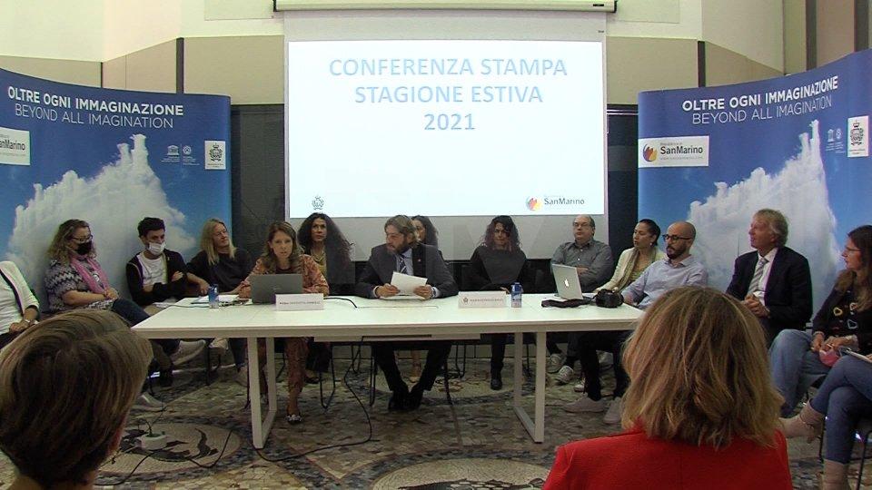 Nel video l'intervista a Federico Pedini amati, Segretario al turismo, Nicoletta Corbelli direttore Ufficio del turismo e Filippo Francini, direttore Dipartimento turismo e Cultura